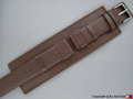 Leather Watch Strap SOLAR Dark Brown 20mm