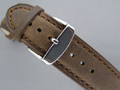 Leather Watch Strap TWISTER Dark Brown / Brown 24mm