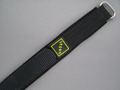 Nylon Velcro Watch Strap SPORT Black 20mm