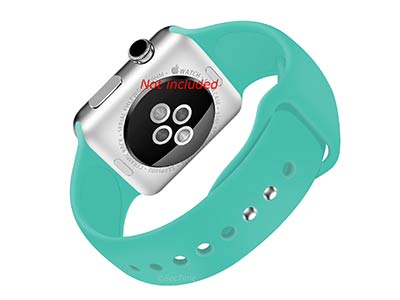 Silicone Watch Strap Band For Apple iWatch 38mm/40mm Turquoise - Small - M1