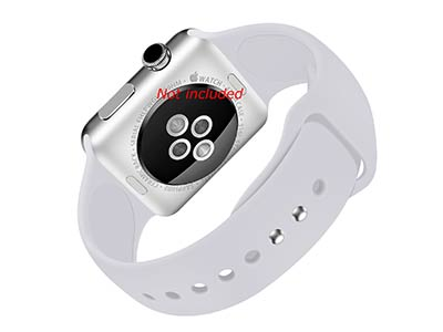 Silicone Watch Strap Band For Apple iWatch 38mm/40mm Grey - Small - M1