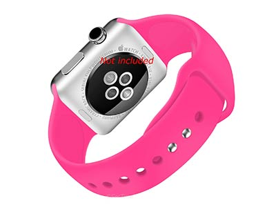 Silicone Watch Strap Band For Apple iWatch 38mm/40mm Neon Pink - Small - M1