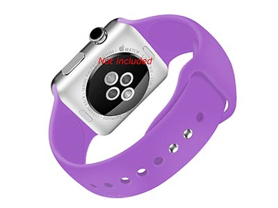 Silicone Watch Strap Band For Apple iWatch 38mm/40mm Lilac - Small - M1