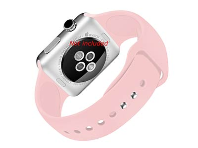 Silicone Watch Strap Band For Apple iWatch 38mm/40mm Salmon - Small - M1