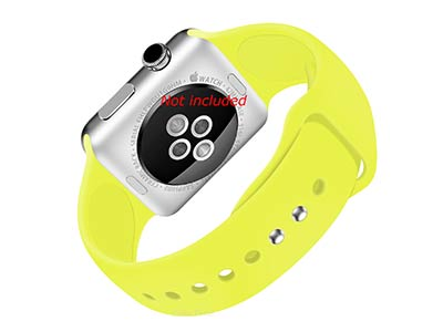 Silicone Watch Strap Band For Apple iWatch 38mm/40mm Yellow - Small - M1
