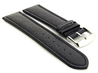 Extra Long Watch Band Navy Blue with Blue Stitching Freiburg 01