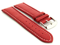 Extra Long Watch Band Red with White Stitching Freiburg 01