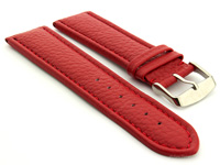 Extra Long Watch Band Red with Red Stitching Freiburg 01