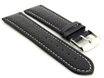 Extra Long Watch Band Freiburg Navy Blue / White 20mm