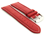Extra Long Watch Band Freiburg Red / White 26mm