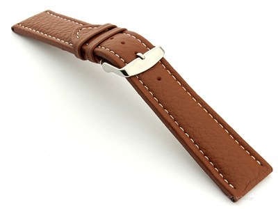 Extra Long Watch Band Freiburg  Brown / White 22mm
