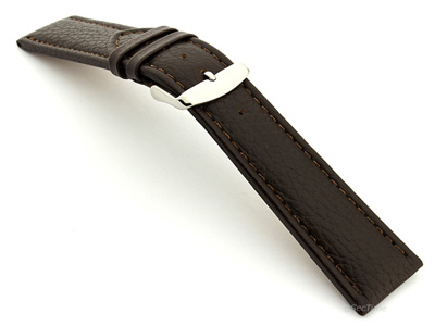 Extra Long Watch Band Freiburg  Dark Brown / Brown 22mm