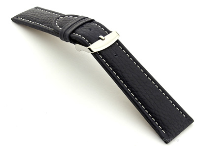 Extra Long Watch Band Freiburg  Navy Blue / White 22mm