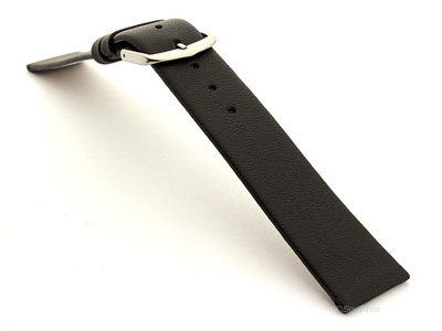 19mm Leather Watch Band Black Madrid 02