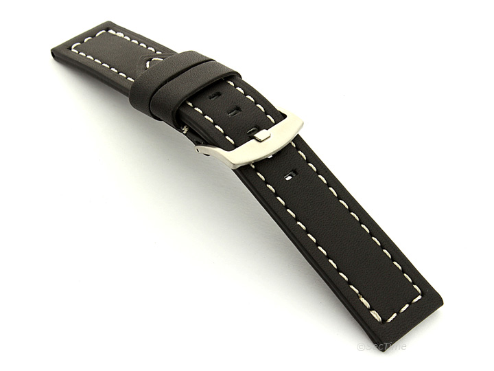 Mens Genuine Leather Replacement Watch Strap Band Panor 22mm 24mm 26mm - MM