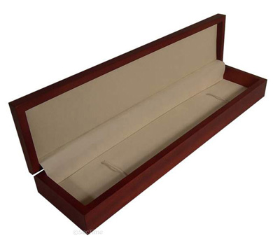 Classic Wooden Watch Box for 1 Wristwatch with Velour Finish Brown 02