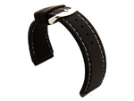Notched Corners Silicone Watch Strap Waterproof Astro Black / White 20mm