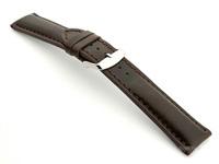 Breitling Watch Strap Dark Brown with Brown Stitching BIO 02