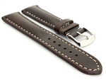Breitling Watch Strap Dark Brown with White Stitching BIO 01