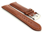 Breitling Watch Strap Rudy Brown with Brown Stitching BIO 01