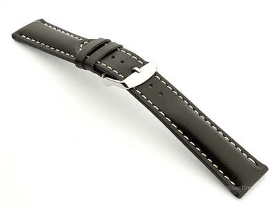 Breitling Watch Strap Black with White Stitching BIO 02