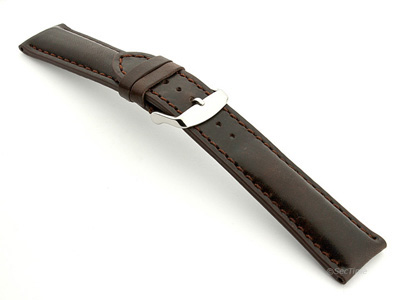 Breitling Watch Strap Dark Brown with Brown Stitching BIO 02