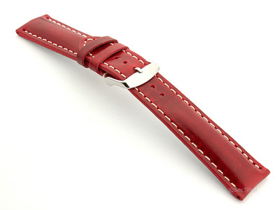 Breitling Watch Strap Red with White Stitching BIO 02