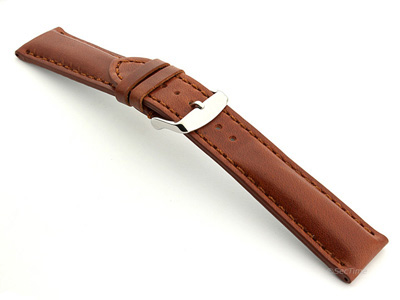 Breitling Watch Strap Rudy Brown with Brown Stitching BIO 02