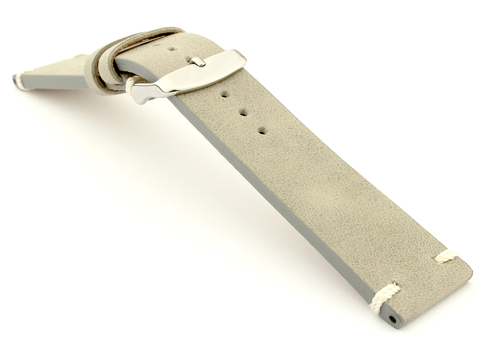 Genuine Leather Vintage Style Watch Strap Blacksmith Grey 03