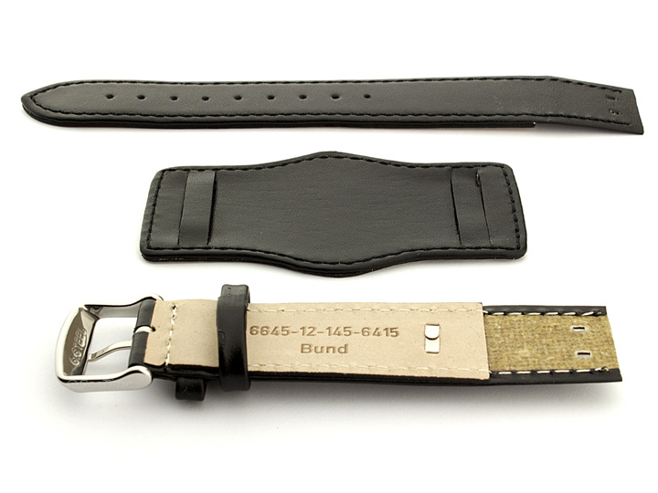 Bund Watch Strap with Wrist Pad Black 01 02