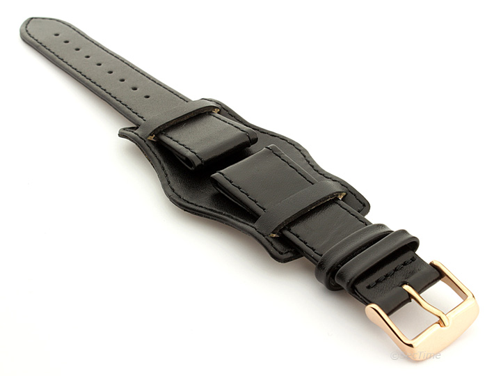 Bund Watch Strap with Wrist Pad Black 05 01