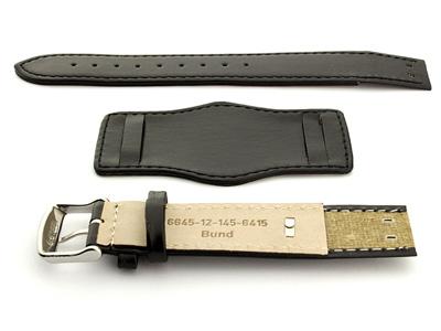 Bund Watch Strap with Wrist Pad Black 01 02