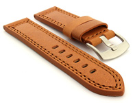 Panerai Style Waterproof Leather Watch Strap Brown Constantine 02 01