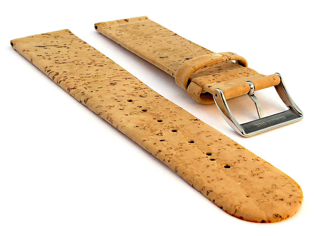 Real Cork Watch Strap Band Vegan Brown 02