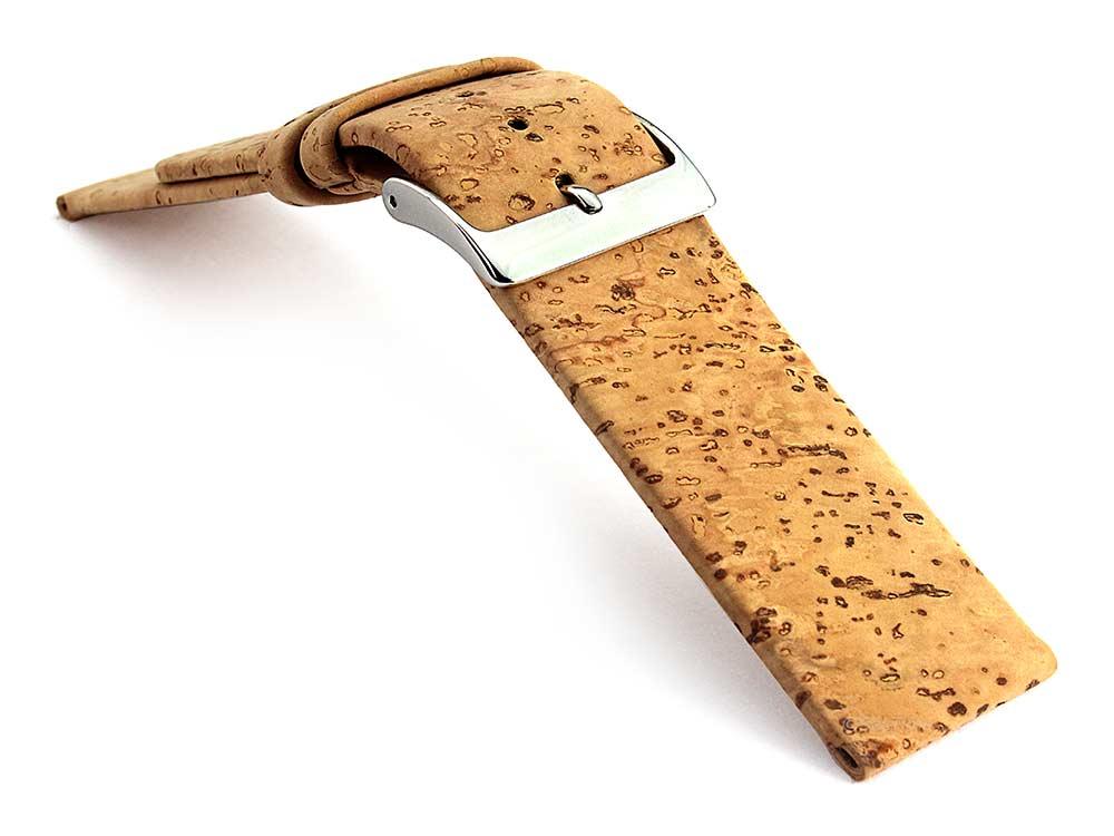 Real Cork Watch Strap Band Vegan Brown 03