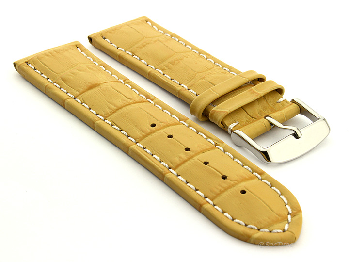 Men-039-s-Two-Piece-Extra-Long-Genuine-Leather-Watch-Strap-Band-Croco-Spring-Bars