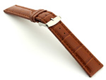 Extra Long Watch Strap Croco Brown / Brown 20mm