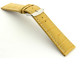Extra Long Watch Strap Croco Yellow / White 26mm