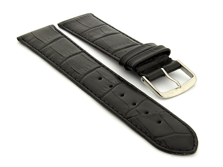 Genuine Leather Watch Strap Band Croco Louisiana Ss
