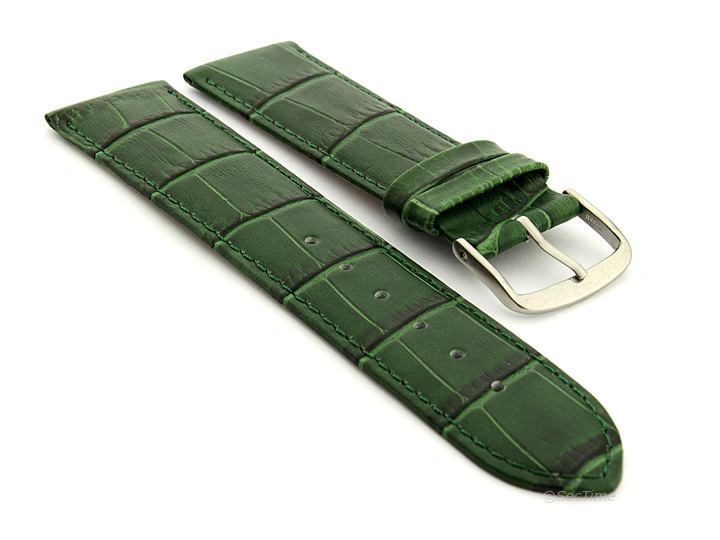 Genuine Leather Watch Strap Band Croco Louisiana 18mm 20mm