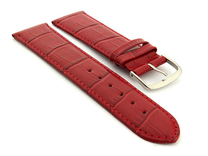 Strap Watch for Women Red Croco Louisiana 02