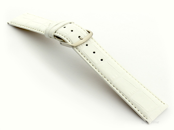 Strap Watch for Women White Croco Louisiana 01
