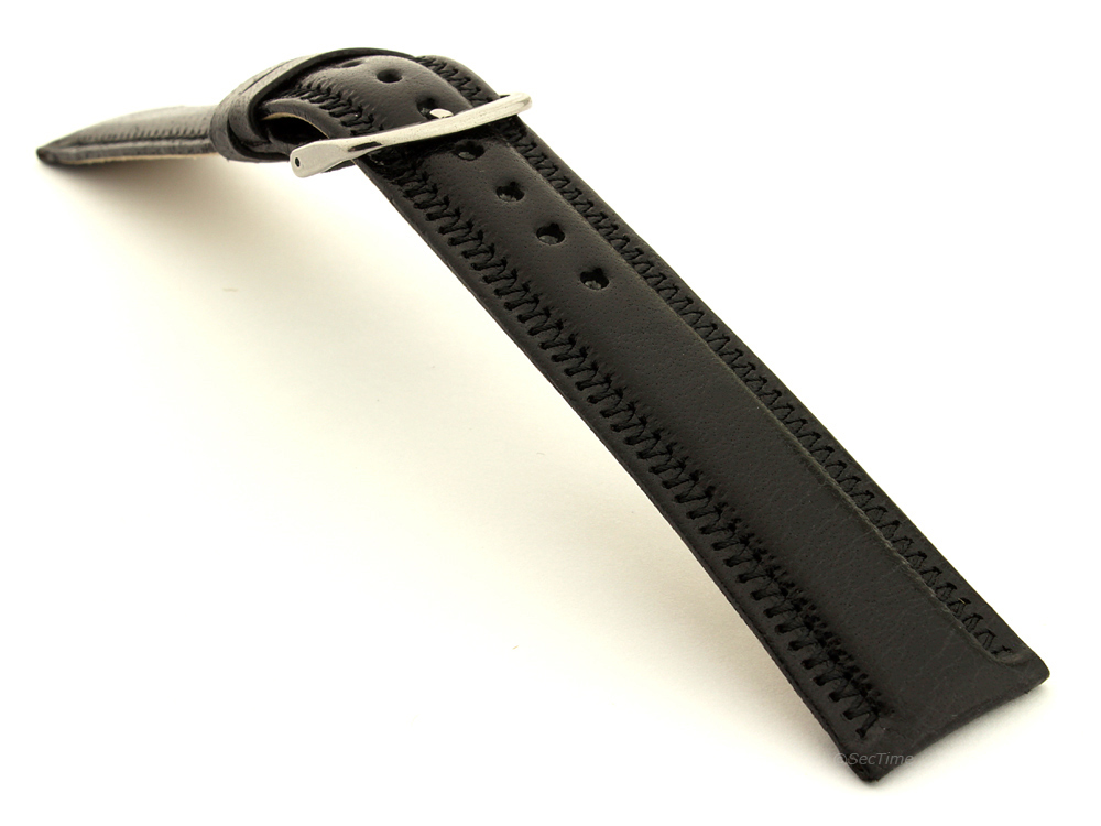 Genuine Leather Watch Strap Florence Black 03
