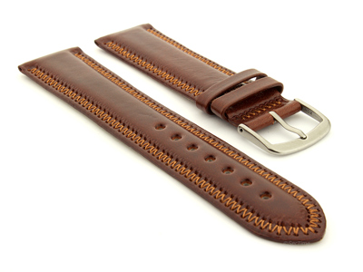 Genuine Leather Watch Strap Florence Brown 24mm