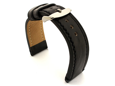 Leather Watch Strap Grand Catalonia Black 20mm
