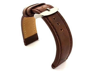 Leather Watch Strap Grand Catalonia Dark Brown 22mm