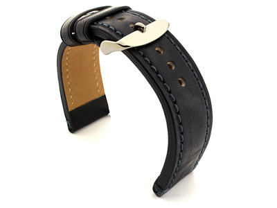 Leather Watch Strap Grand Catalonia Navy Blue 20mm
