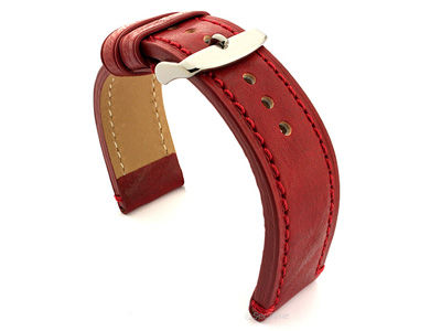 Leather Watch Strap Grand Catalonia Red 20mm