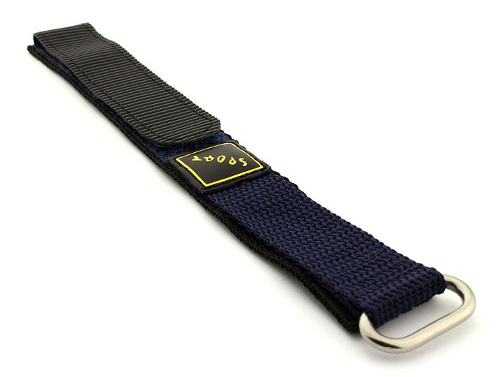 Hook & Loop Watch Strap Nylon Blue Sport 01