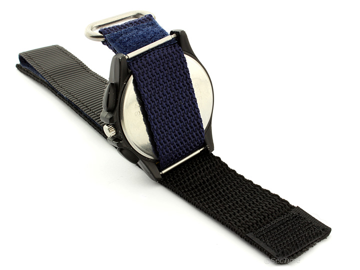 Hook & Loop Watch Strap Nylon Blue Sport 03